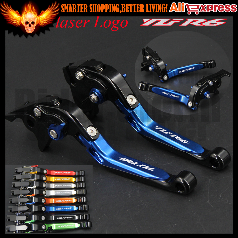 Motorcycle Adjustable Brake Clutch Levers For Yamaha YZF R6 YZFR6 2005-2016 2006 2007 2008 2009 2010 2011 2012 2013 2014 2015 for yamaha yzf r125 2008 2011 motorcycle accessories aluminum short brake clutch levers red