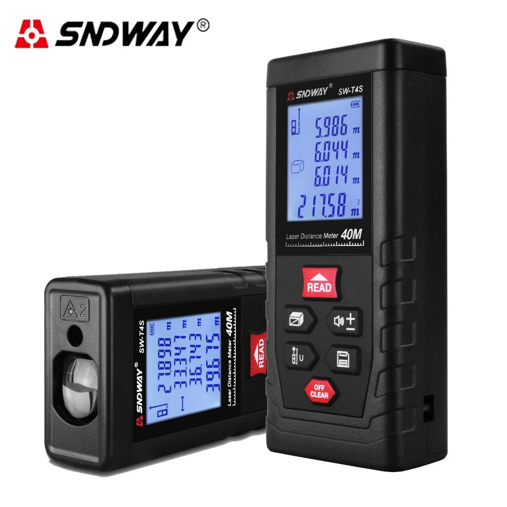 Medidor de distancia láser SNDWAY rango de distancia 40 m T4S serie T láser ruleta telémetro láser para caza buscador regla