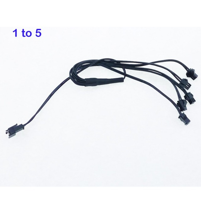 EL Wire One in five ( 1 to 5 ) Splitter+Free shipping neon el wire ...