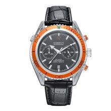 KIMSDUN Fashion Luxury Brand Multifunction Sport Watch Men Waterproof Quartz Lea
