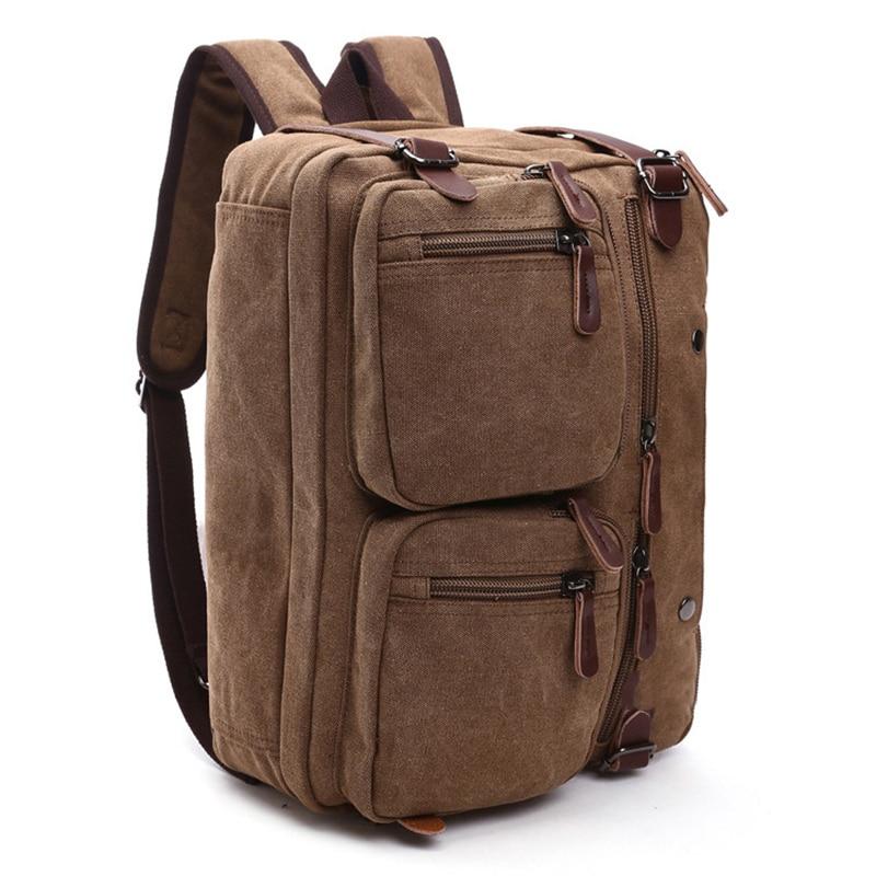 WILIAMGANU Men Backpack Laptop Multifunction Canvas Men Shoulder Bag Designer Large Capacity Backpack Men Male Travel Tote BagsWILIAMGANU Men Backpack Laptop Multifunction Canvas Men Shoulder Bag Designer Large Capacity Backpack Men Male Travel Tote Bags
