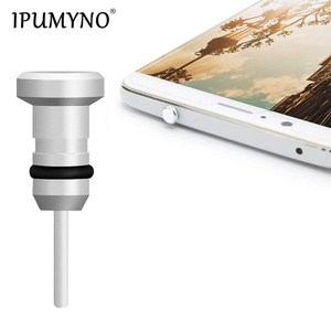 IPUMYNO Metal Phone 2 in 1 Sim Card Tray Eject Pin Tool & 3.5mm Earphone Jack Dust Plug Dustproof Cap Gadget For iPhone 6 6s 5s