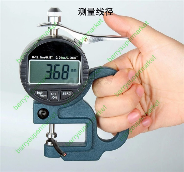 ФОТО 0-12.7*0.001mm Micron Digital Dial Thickness Gauge with flat head Specification:0-12.7mm/0.5*0.001mm/0.00005