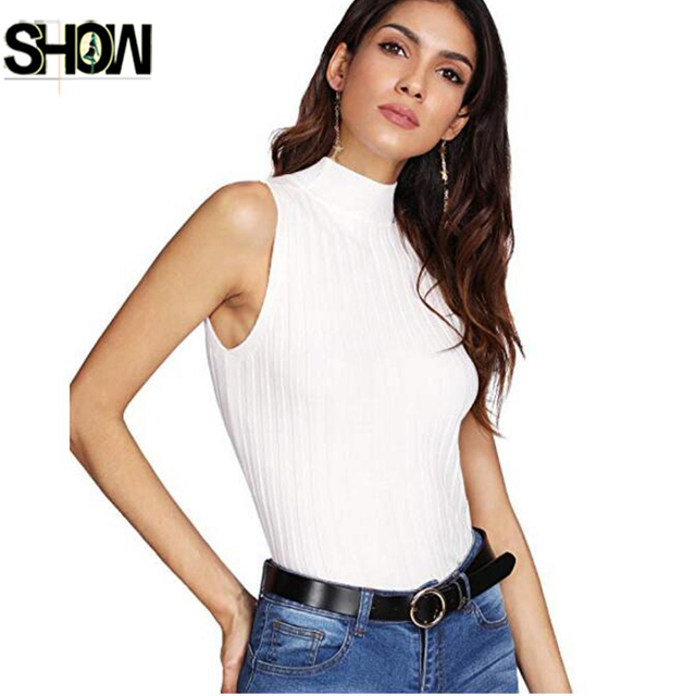 15ea0ac7ae597 Women s Knit Crop Top Ribbed Sleeveless Halter Neck Vest Tank Top Summer Knitted  Top Black White Wine Red Pullover Vest