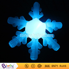 Multicolors inflatable Christmas snowflake decoration for Christmas Decoration 2.5m flashing toy