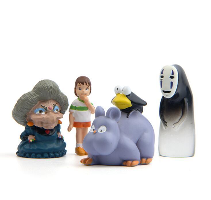 1 set Zakka Ornament Accessory, Hayao Miyazaki Anime Character , For Micro World AccessoryMiniature Bonsai Craft Gift A83