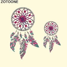 ZOTOONE Feathers Dreamcatcher Patches For Girl Clothes Stickers DIY Heat Transfers Thermal Transfer Paper Appliqued
