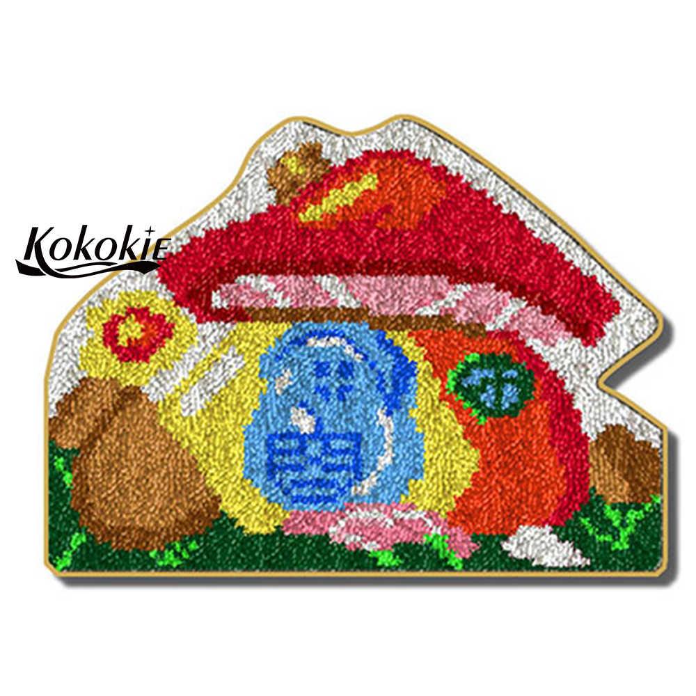 Diy ערכות וו בריח שטיח שטיח ערכות 3d שטיח קריקטורה מודפס אביזרי לסורגת tapis מחט Foamiran עבור מלאכות