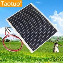 20 Вт 12 В поликристаллического кремния солнечного Панель полу гибкие солнечные доска Мощность generater для Батарея автомобиля RV лодка самолета Туризм