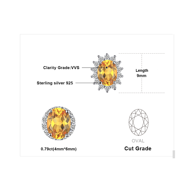 JewelryPalace 1.5ct Oval Natural Citrine Stud Earrings 925 Sterling Silver Fine Jewelry Charms Wedding Earrings Big Promotion-in Earrings from Jewelry & Accessories on Aliexpress.com | Alibaba Group