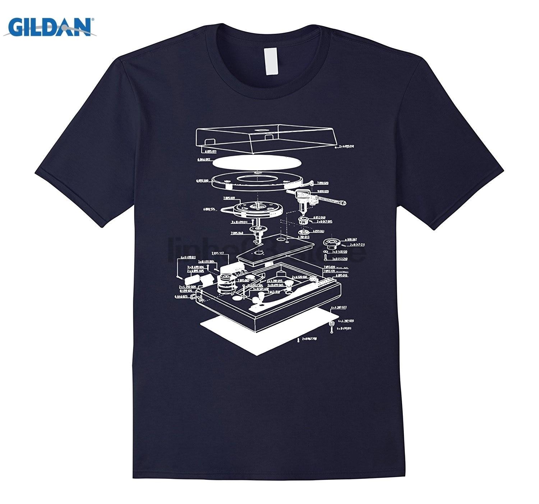 GILDAN Turn table shirt - dj shirt - turn table schematic dress T-shirt sunglasses women ...