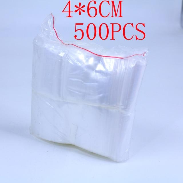 Free Shipping 4 6cm Zipper Plastic Bag Small Jewelry Ng Bags 500pcs Lot