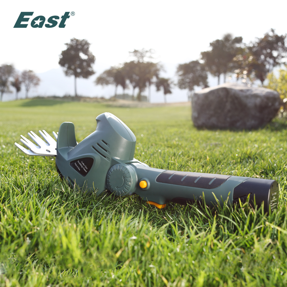 East Garden Power Tool 10 8V Li Ion Cordless Grass shear purning tools without handle mini