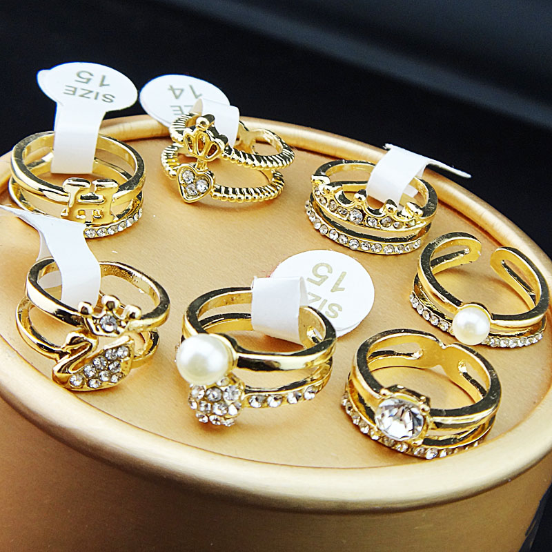 10pcs Silver P Little Finger Rings Small Rings Joint ring Austria