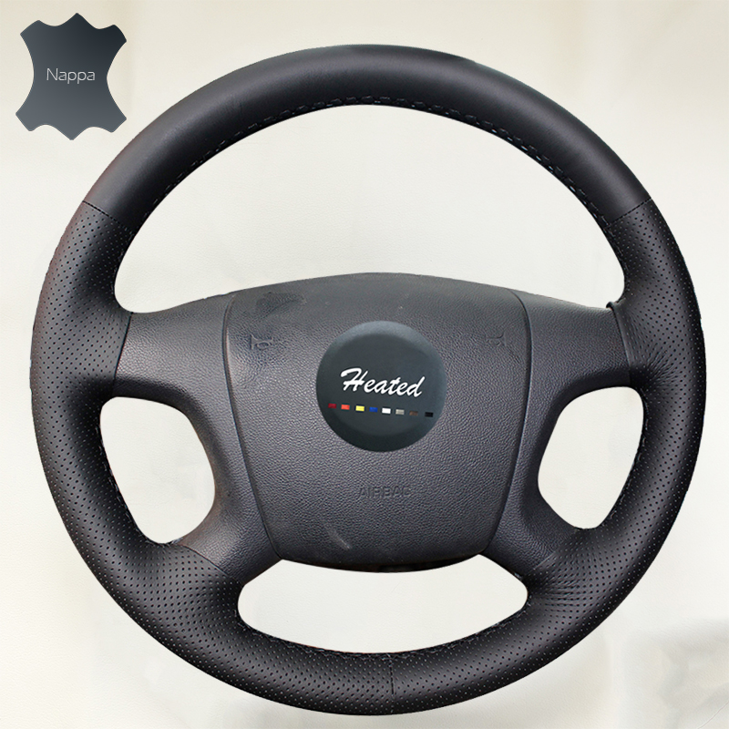 Nappa Leather braid on the Steering Wheel Cover for old Skoda Octavia 2005-2009 Fabia 2005-2010 цена
