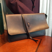 ETONWEAG New 2017 men famous brands Italian leather vintage day clutch bags document bags brown casual