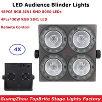 4 Eyes 30W LED Audience Blinder Lights RGB Full Color Studio Theater Washer Projector DMX Remote Control Led Stage Lights
