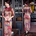 2016 winter red wedding qipao plus oriental national chinese traditional cheongsam qipao wedding dress