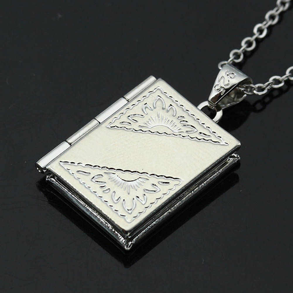 alloy chain Simple Beautiful  Necklace High Quality  Hot heart shaped mesh flower photo frame Trendy