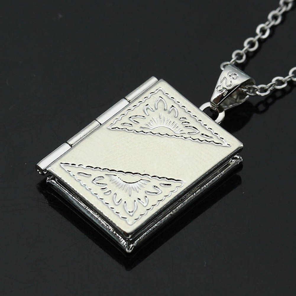 Цепочка Из Сплава простое красивое ожерелье высокого качества в форме сердца сетка Цветочная фоторамка модный