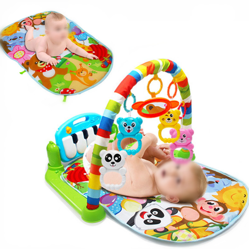 Multifunction Soft Baby Play Mat 3 In 1 Rug Develop Crawling Kids Music Mat With Keyboard Infant Fitness Carpet Educational Toys