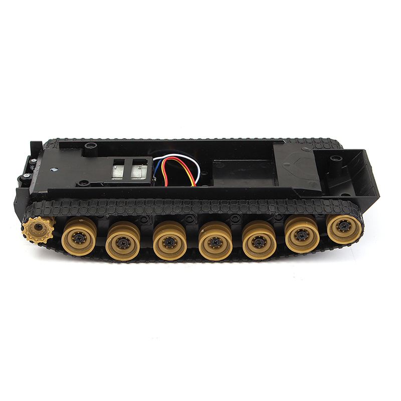 все цены на  New Arrival DIY Smart Robot Tank Plastic Chassis Tracking Car Kit 225x95x45mm 3V~7.4V for Arduino SCM For Boys Children Gift  в интернете