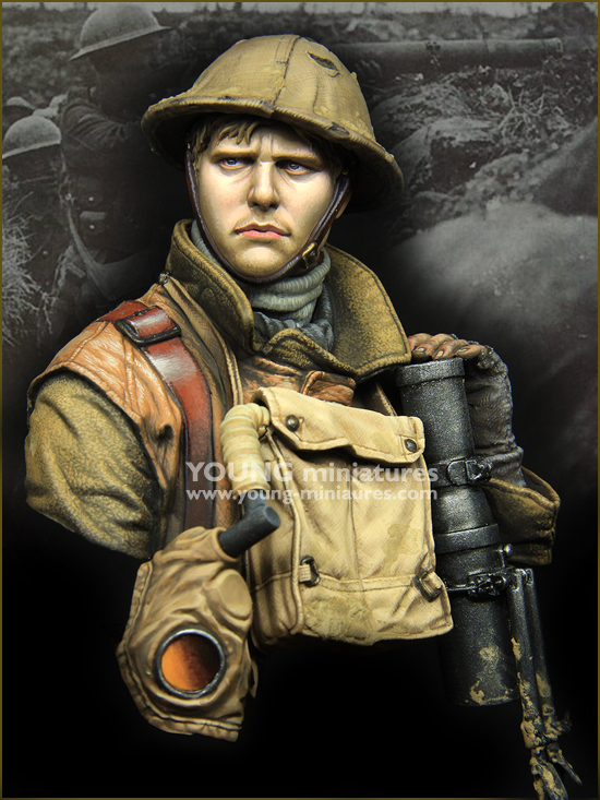 1/10 Resin Bust  Model Kit-X165 British Army Unassembled Unpainted