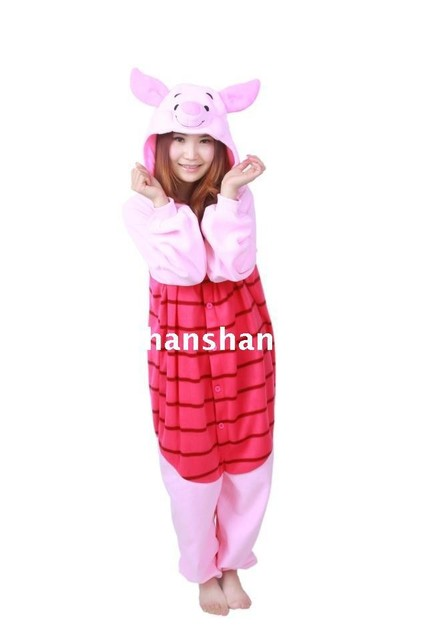 3efed6b89f17 Adult Onesies Animal Piglet Pig Onesie Party Cosplay Costume Pajamas Women  and Men Family Unisex SleepWear Jumpsuit