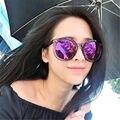 Мода Круглый Женщин Солнцезащитные Очки женщин бренд дизайнер Старинные очки Челюсти breaker женской Женщин Очки Ретро очки Очки