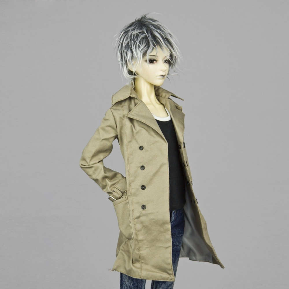 [wamami] 500# Brown Wind Coat/Suit/Outfiit/Clothes 1/4 MSD DZ AOD DOD Boy BJD Dollfie handsome grey woolen coat belt for bjd 1 3 sd10 sd13 sd17 uncle ssdf sd luts dod dz as doll clothes cmb107
