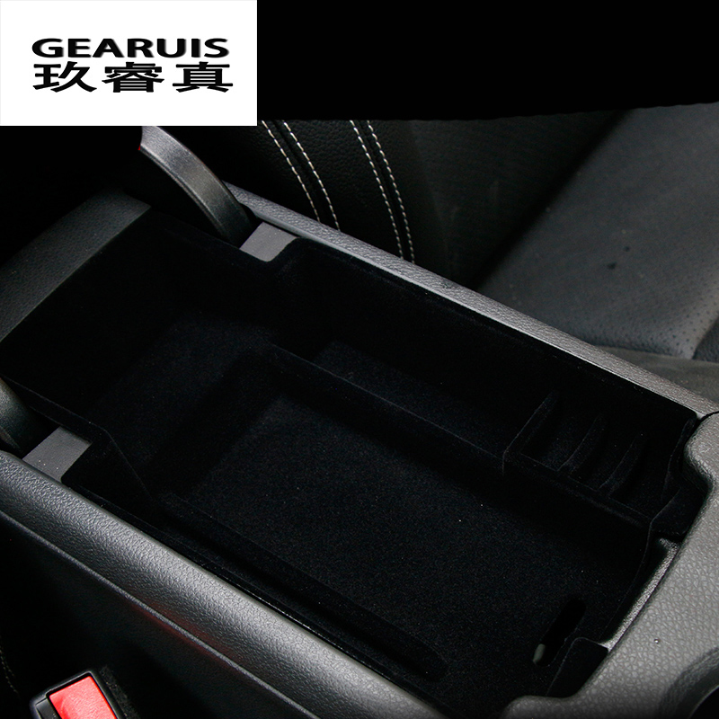 Car styling central storage box armrest remoulded car glove storage box cover For Mercedes Benz GLA X156 CLA A C Class W205 GlC