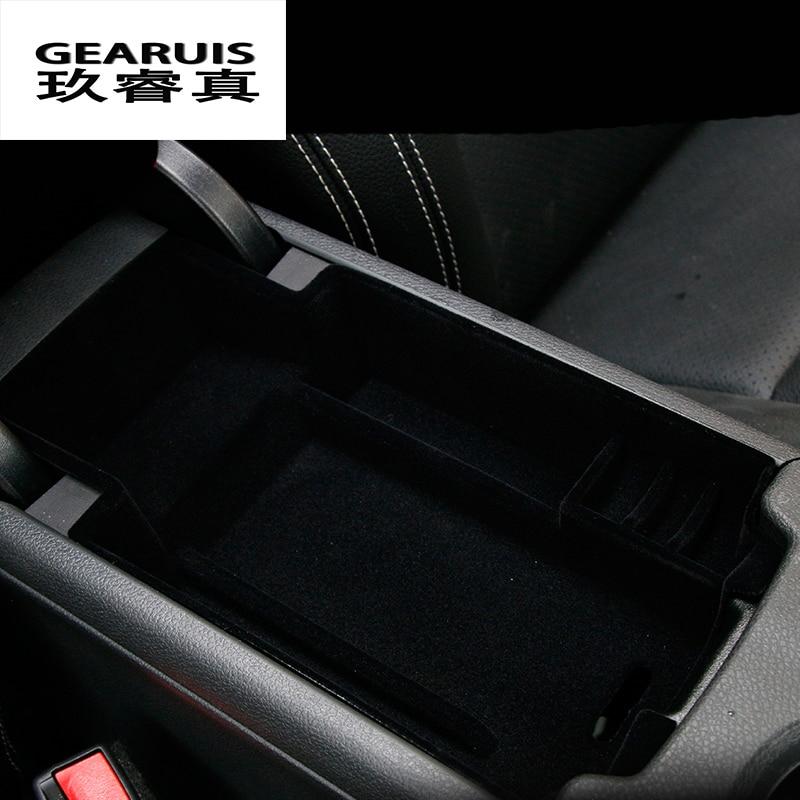 Estilo do carro caixa apoio de braço central de armazenamento caixa de armazenamento caixa de luva do carro remoldados cobrir Para Mercedes Benz GLA X156 CIA Uma Classe C W205 GlC