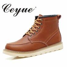 Ceyue осень 2017 г. Для мужчин; ботинки из натуральной кожи рабочие Сапоги и ботинки для девочек Mountain Обувь Винтаж Оксфорд Ботильоны ботинки высокого качества для Для мужчин