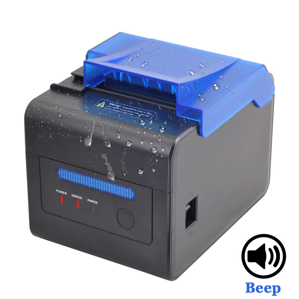 IssyzonePOS thermal receipt 80MM Printer kitchen printer with Sound Beeping Alarm and Auto Cutter Logo Printing 300mm/sIssyzonePOS thermal receipt 80MM Printer kitchen printer with Sound Beeping Alarm and Auto Cutter Logo Printing 300mm/s