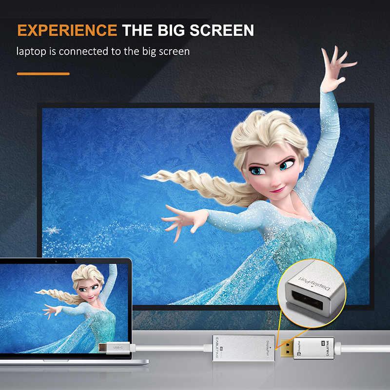 CABLETIME USB C إلى Displaypor محول 4K 60Hz نوع C إلى موانئ دبي M/F تحويل ل HDTV سامسونج galaxy s9 USB 3.1 Displayport C035