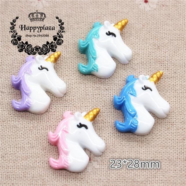 10pcs New Arrival Hot Selling Resin Cute Unicorn Horse Unicorn Horn
