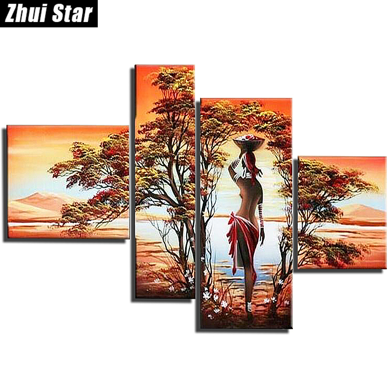 Hot 5D DIY Diamond Painting Fantasy Embroidery Full Square Diamond Cross Stitch Rhinestone Mosaic Painting Home