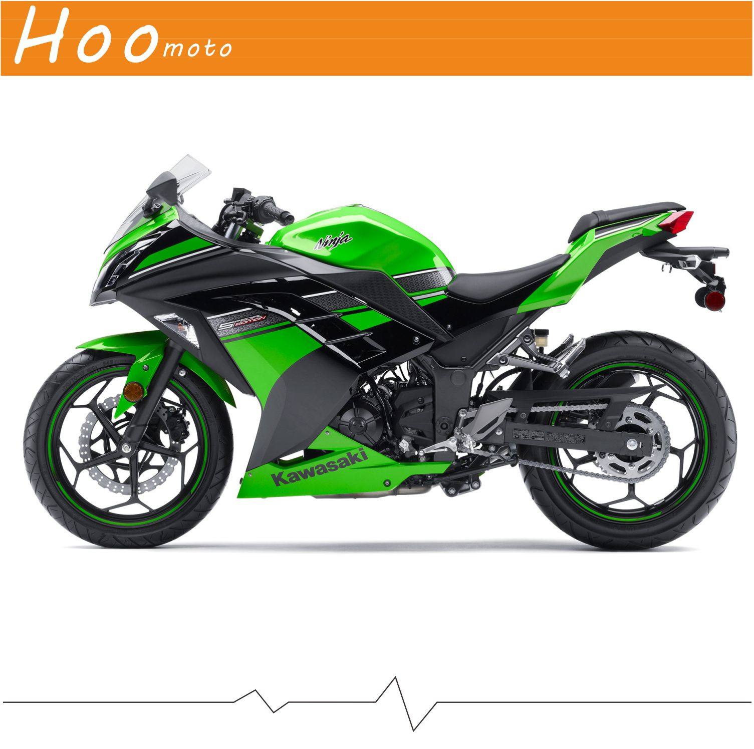 Ninja 300 full decals stickers graphics kit set motorcycle whole vehicle 3m decals stickers for kawasaki ex 2013 r green fairing in decals stickers from