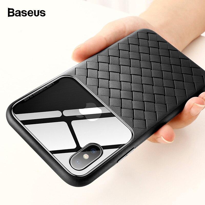 Basues ткачество чехол для iPhone Xs Max Xr X Capinha ультра тонкий СИЛИКОН ТПУ Защитная задняя крышка для iPhone Xs Coque Fundas Капа