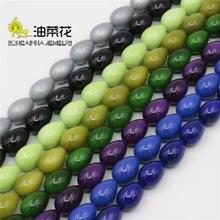 10x14 мм многоцветные стеклянные бусины украшения из жемчуга