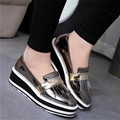 Free shipping spring/autumn women's fashion wedge heel tassel decoration flatform shoes casual comfortable single shoes