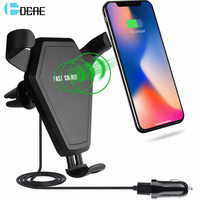 DCAE Qi Standard Fast Wireless Car Chargers For IPhone X 8 Samsung S9 S8 S7 Wireless