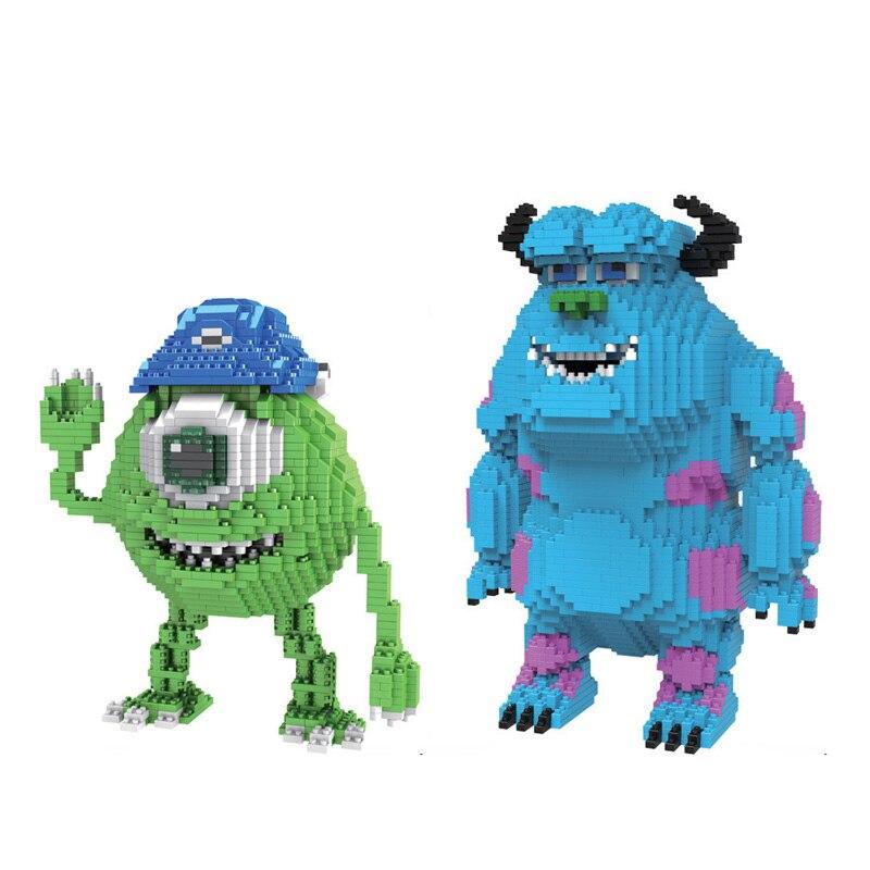 Dynamisch Klassische Cartoon Amerika Bild Monsters Universität Inc Micro Diamant Building Block Sulley Mike Nanoblock Pädagogisches Spielzeug Ziegel Ruf Zuerst
