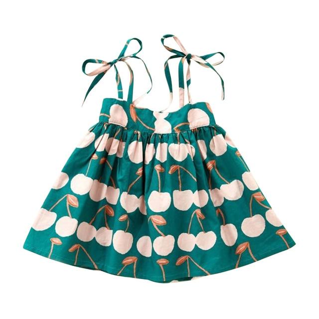 insular Summer Baby Girl Sleeveless Printed Cotton Dress