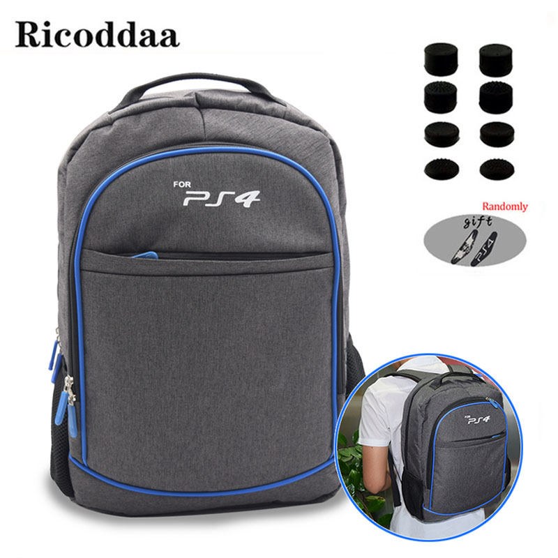 For <font><b>PS4</b></font> Game Sytem Backpack Canvas Carry Bags <font><b>Case</b></font> Protective Shoulder For PlayStation 4 <font><b>PS4</b></font> <font><b>Console</b></font> Travel Storage Backpack image