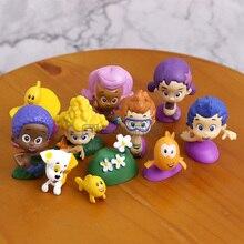 Bubble Guppies Bubble щенок бычок-Deema Гил Oona подводный декорации ПВХ фигурки Детские игрушки Подарки 12 шт./компл