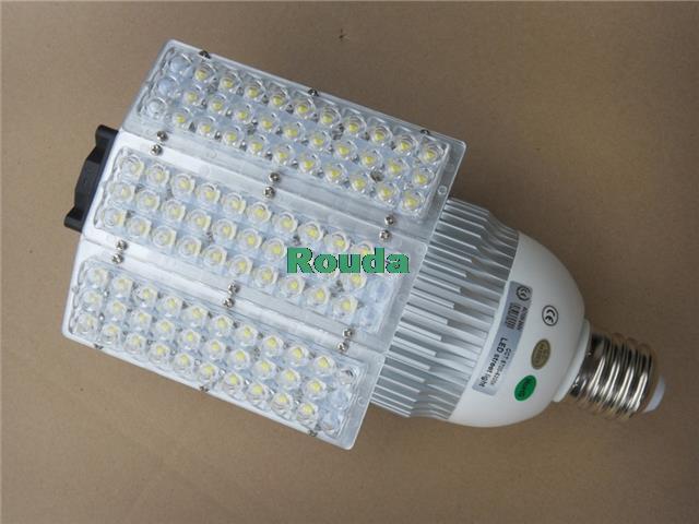 60w led street light 100-240v Bridgelux chips 110-120LM/W street lights E40 street lamp 60w e40 dc24v 12v taiwan led chips epistar 110 120lm w led light bulb e40
