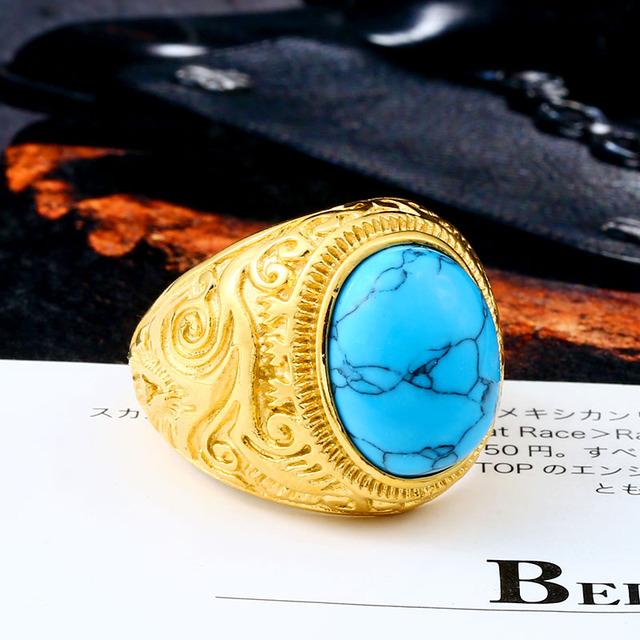 Turquoise biker ring