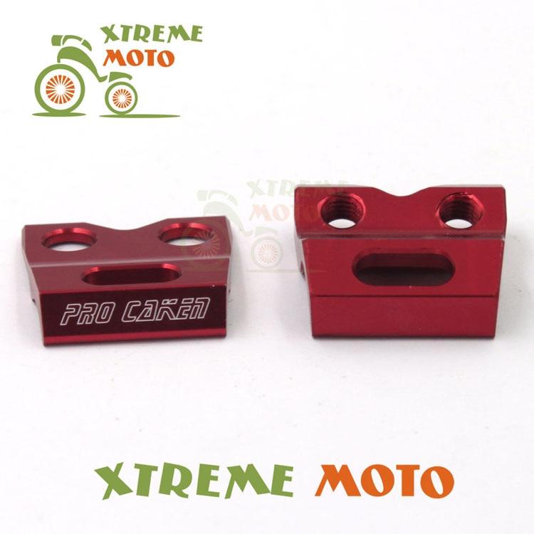 CNC Brake Line Hose Clamps Holder For Honda CR125R 250R CRF250R 250X 450R 450X 250L 250M Enduro Motocross Supermoto Dirt Bike
