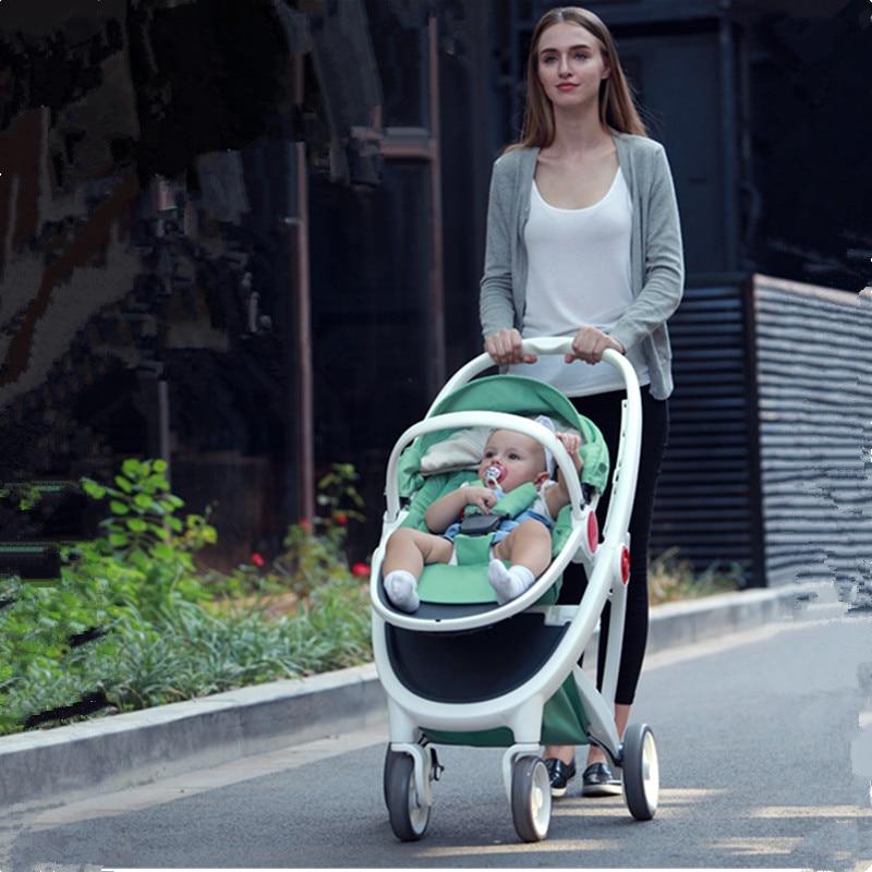 Luxury Baby Stroller 2 in 1 High Land-Scape Pram Portable Baby Carriages For Newborns Kinderwagen Stroller For Dolls все цены